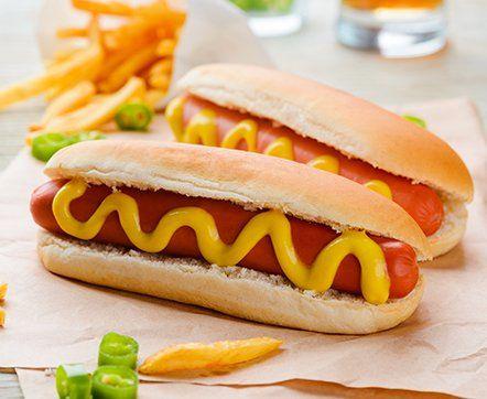 Classic Hot Dogs|American Mustard Sauce|Buy American Mustard Sauce|Buy Veeba American Mustard Sauce|Recipe of  Classic Hot Dogs| Buy American Mustard