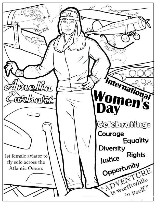 International Womens Day Coloring Page Ladies Day Coloring Pages