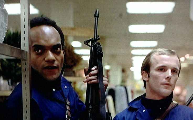 """Ken Foree and Scott Reiniger in """"Dawn of the Dead"""" (1978)"""