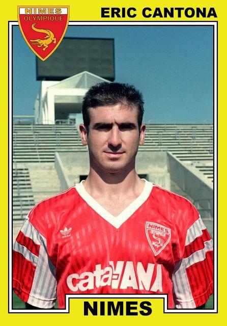 Éric Cantona, Nîmes Olympique 1991. Old School Panini.