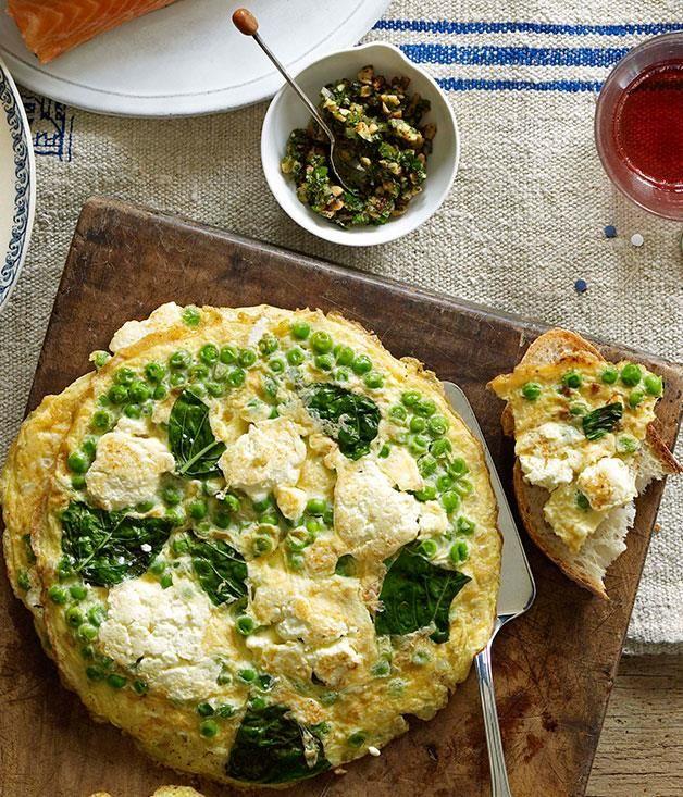 Ricotta And Pea Frittatas Recipe Vegetable Recipes Recipes Frittata Recipes