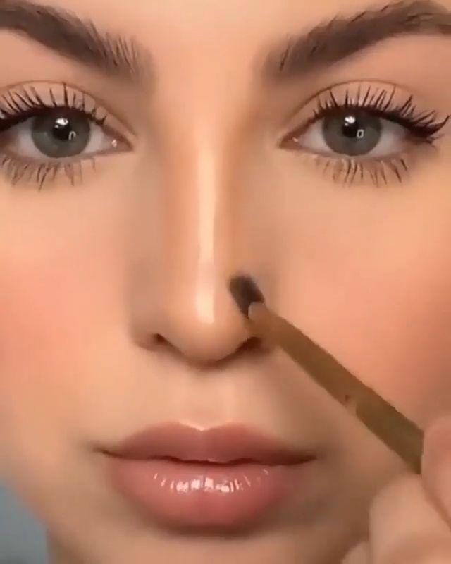 Glossy Makeup, Nude Makeup, Contour Makeup, Diy Makeup, Korean Eye Makeup, Korean Eyebrows, Eye Makeup Pictures, Rockabilly Makeup, Makeup Hacks Videos
