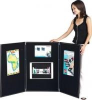 Display Board 3 panels black  Display Boards  This new display board creates a variety of displays and is ideal for showing any type of  information to your pupils.  It is perfect for posting lesson plans, work cards, posters, you name it!  Comes with handy carry bag and is offered in both 3 and 7 panel version.  Just set up and start your class!  List Price: R1498.18