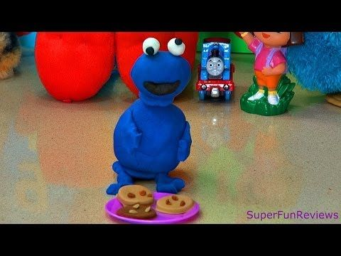Play-Doh Fun -- How to make a Fabulous Cookie Monster in Easy to Follow Steps