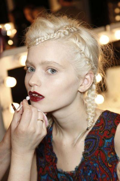 Hair Inspiration 2 - Fringe braid linking down to full hair braid