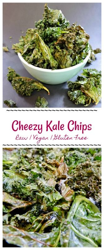 CHEESY RAW VEGAN KALE CHIPS - These are the BOMB .com. Sprinkle on any spice combo you want to make totally different flavour profiles to meet all of your snack time needs!!   www.thehonestginger.com/cheesy-raw-vegan-kale-chips/   Find more recipes @ www.thehonestginger.com !   #thehonestginger