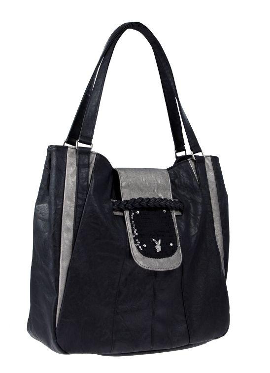 Kabelka Playboy Sequin Large Bag Black