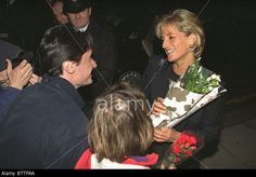March 10, 1997: Diana, Princess of Wales visiting the Centrepoint Cold Weather Project, in King's Cross, which provides food, beds and respite for 47 homeless young people.