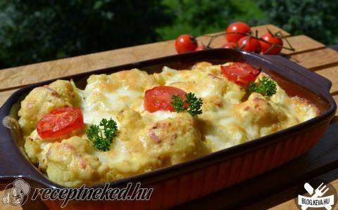 Mozzarellás karfiol recept fotóval