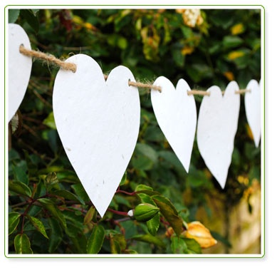 Plantable Wildflower Seed Paper Heart Bunting
