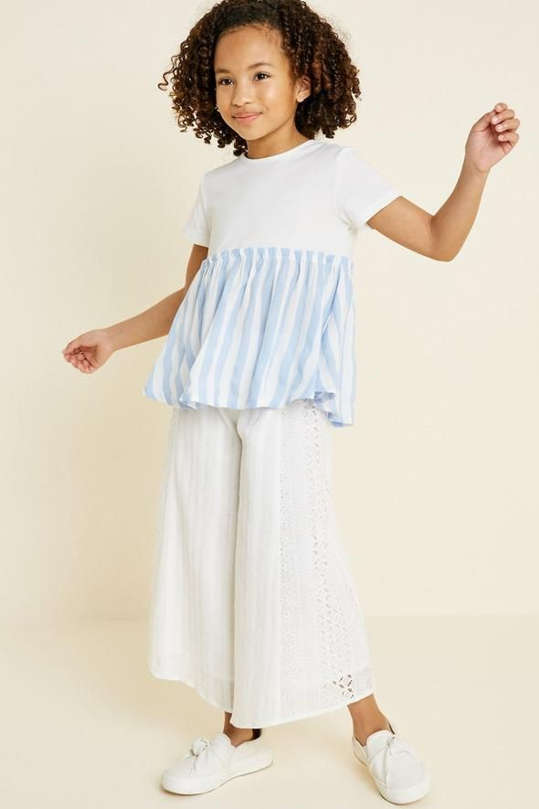 35c19b4105ec Striped Peplum Babydoll Top in 2019 | Spring Collection 2019 | Tops ...