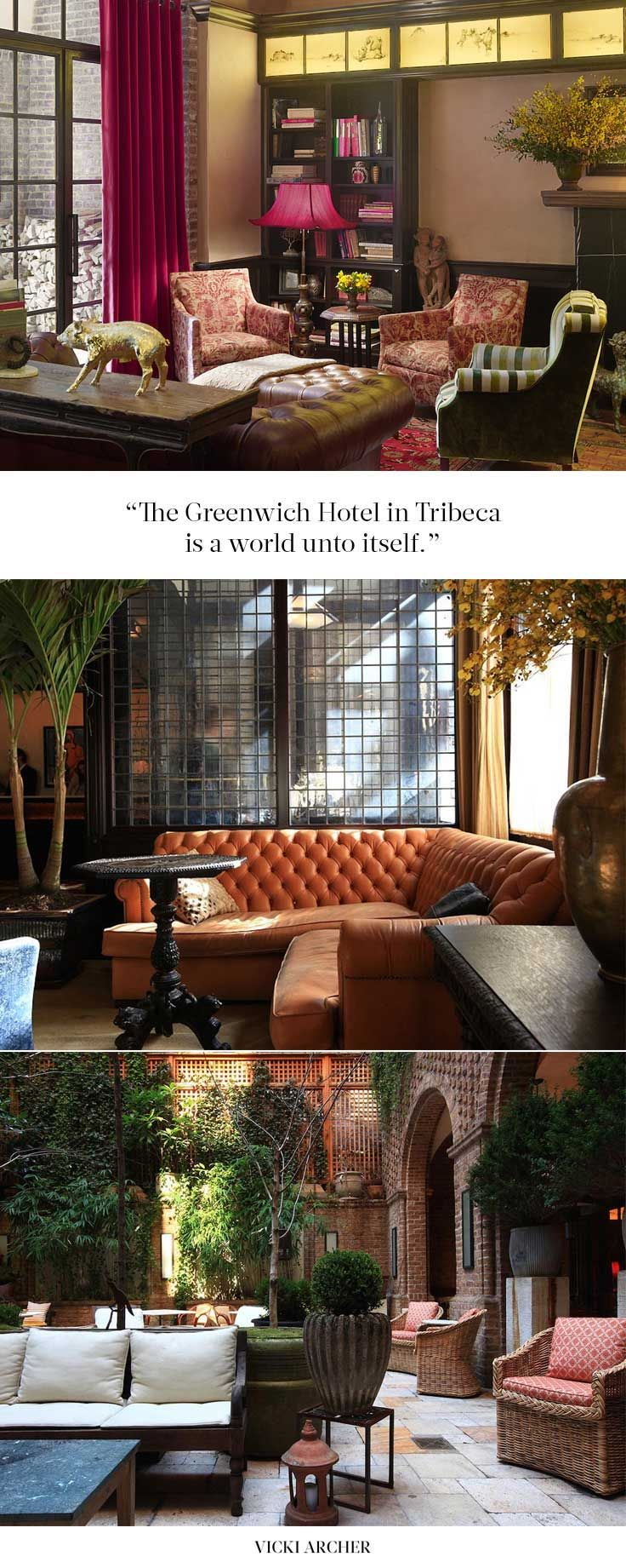 The Greenwich Hotel, Tribeca - Vicki Archer // http://vickiarcher.com/2015/12/the-greenwich-hotel-tribeca/
