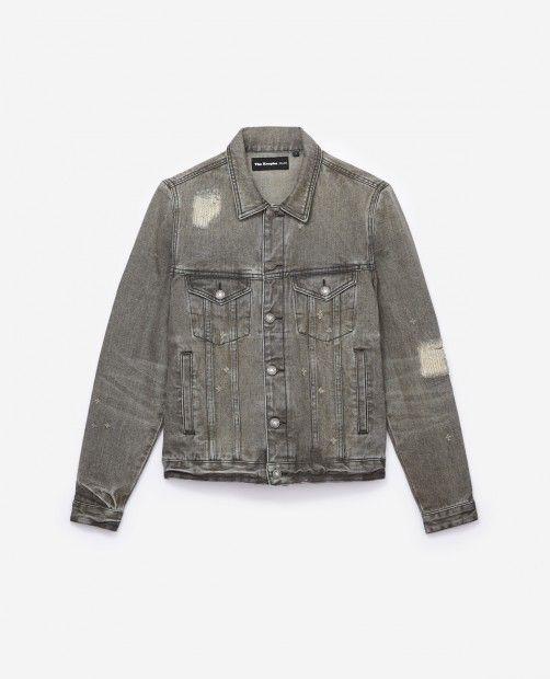Destroy grey denim jacket - THE KOOPLES