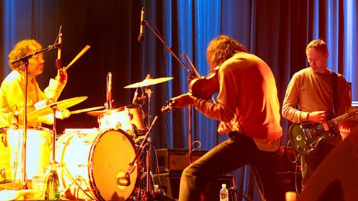 Dirty Three at All Tomorrow's Parties Festival, Mt Bulla, Victoria, Australia. Image: Carbie Warbie