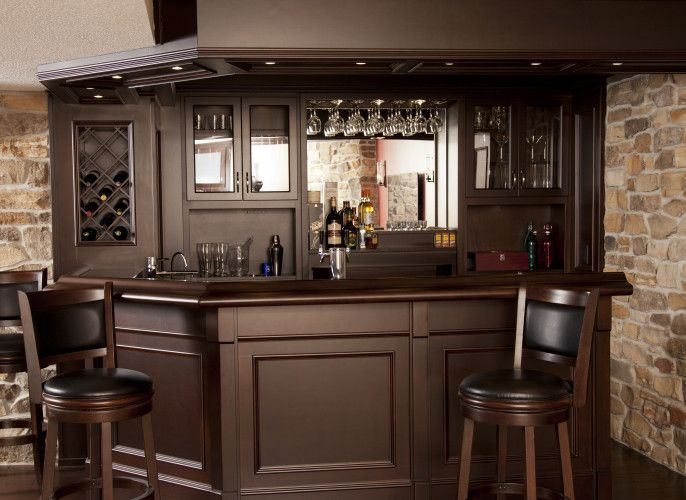 HOME BAR, MAPLE IN MOCHA COLOUR DESIGNED AND BUILT By THE BAR STORE CANADA  INC · Basement BarsBasement IdeasBasement ...