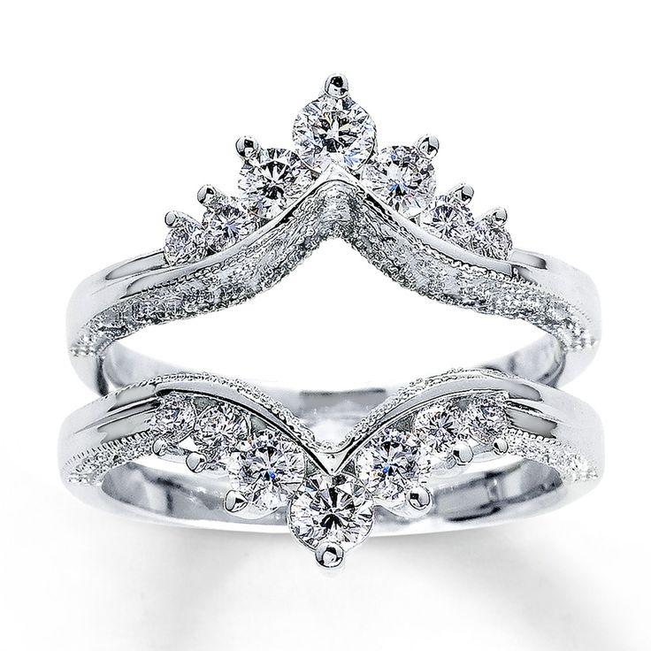14k white gold carat tw diamond solitaire enhancer