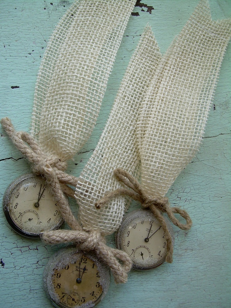 burlap ornament or jewelry. Great bookmark.