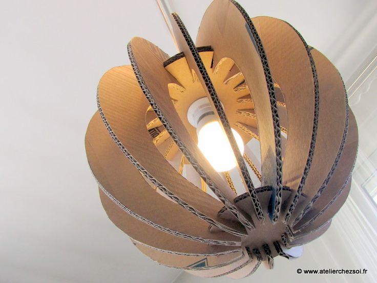 Fabriquez 3 Luminaires boules en carton - patron PDF téléchargeable immédiatement : Confection abat-jours, lampes par atelier-chez-soi