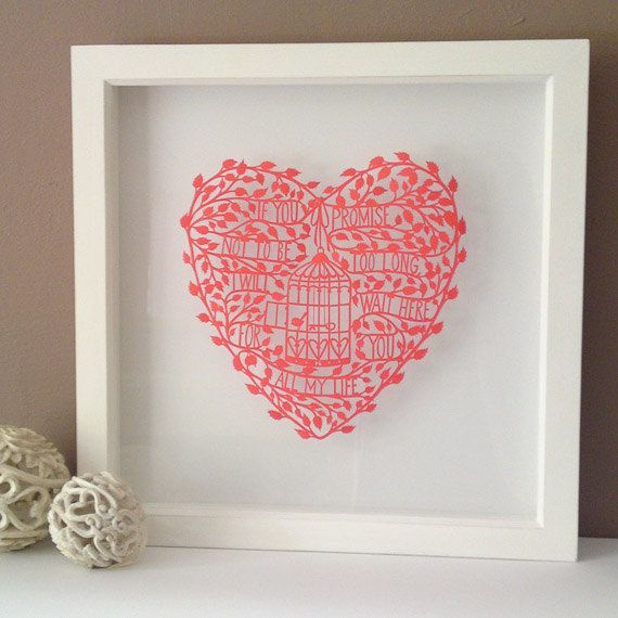 If you promise not to be too long I will wait here for you all my life  Papercut by Debbie Geddies