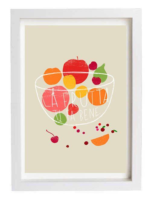 Fruit Kitchen Poster print La Frutta 20x27 archival fine by anek