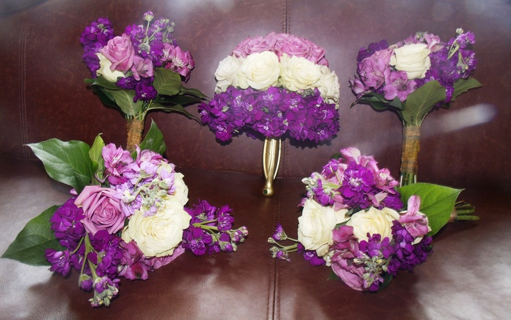 Purple #ombre wedding bouquets...perfect for spring!: Weddings Zad, Wedding Bouquets