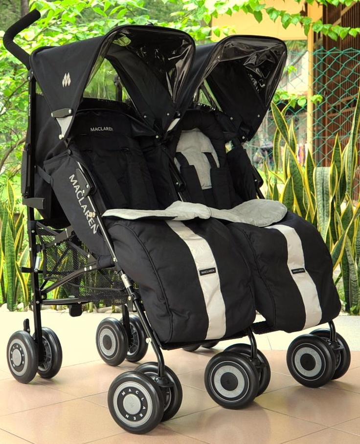 Maclaren Twin Techno with footmuffs. Best double stroller