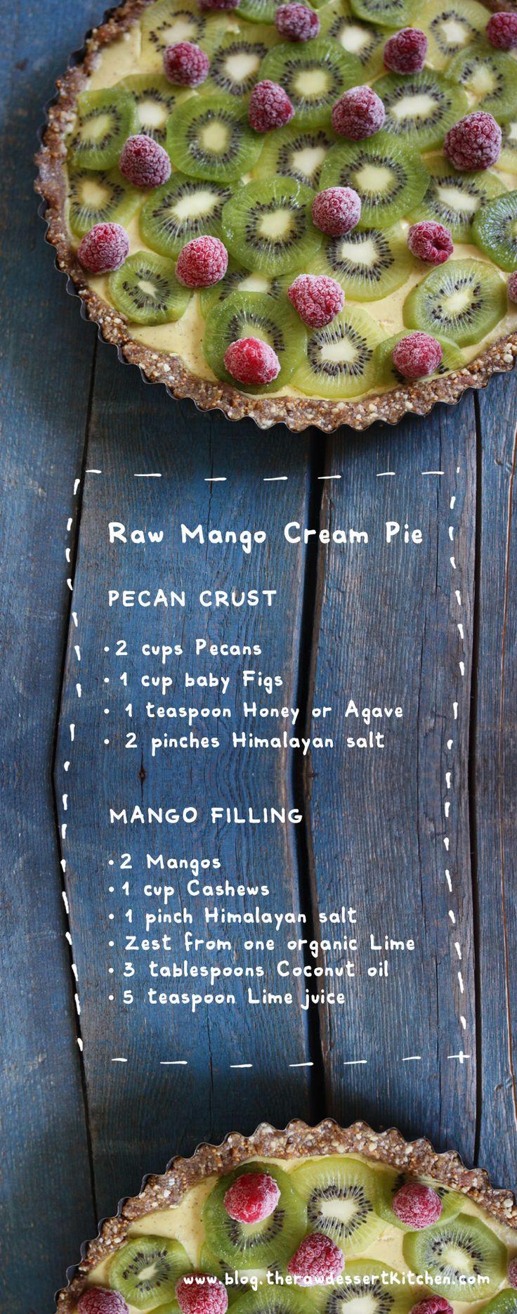 The Raw Dessert Kitchen: Raw mango cream pie
