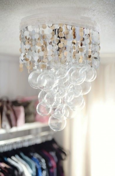 Make your own pretty handmade chandelier - these directions TRULY are easy - thank you!