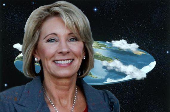 Betsy DeVos Orders Immediate Flattening Of All School Globes
