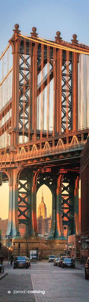 Empire State Building Framed by Manhattan Bridge -- by Jarrod Castaing