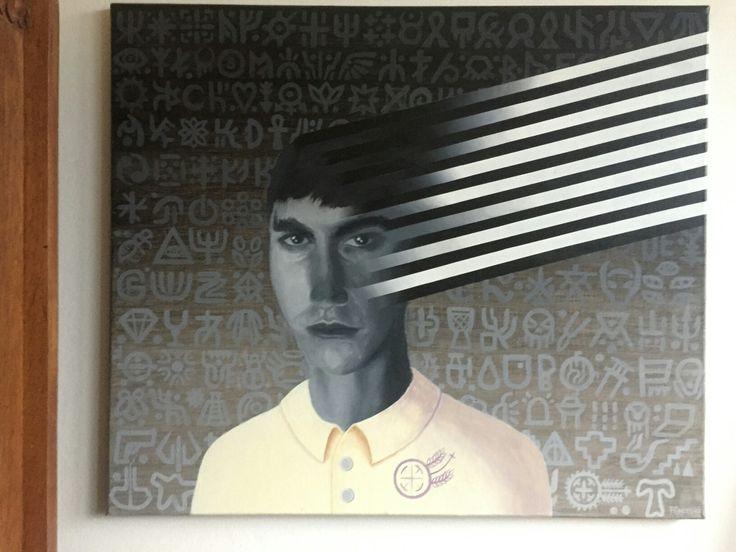 "Franciszek Grzesiak, ""Sordid 1"" 50x60 cm, acrylic on canvas"