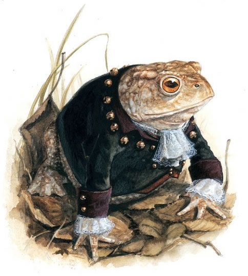 makes me think of Tiffany's Toad Lawyer (if he had to appear before the bar) - art by Jean-Baptiste Monge