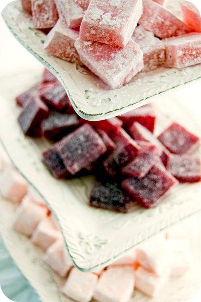 Turkish Delight, Marshmallow, Pâte de Fruit
