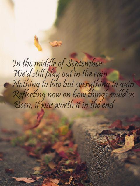 Daughtry- September lyrics