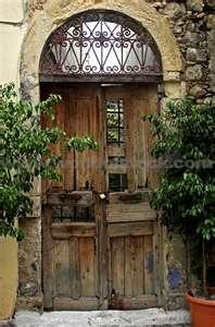 Door In Old Town, Rethymno Crete Greece Stock Photo - World of Stock