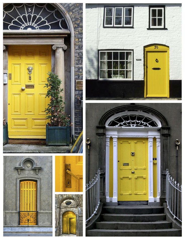 Exterior Color Inspirations The Bright Bold Yellow Door House Sunshine Delight Painted Exterior House Designs