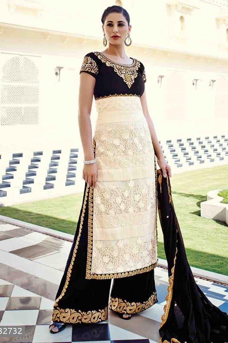 Nargis Fakhri - Cream Viscose and Net Salwar Kameez with Embroidered and Lace Work - Z2570P32732-1 #designer #salwar #kameez @ http://zohraa.com/salwar-kameez.html #zohraa #onlineshop #womensfashion #womenswear #bollywood #look #diva #party #shopping #online #beautiful #salwar #kameez #beauty #glam #shoppingonline #styles #stylish #model #fashionista #women #lifestyle #girls #anarkali #suit #nargisfakhri