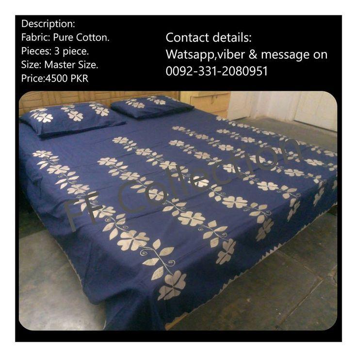 Fabric: Pure cotton. Pieces :3 piece. Size:Master size. Price:4500 PKR. Contact details: 0092-3312080951 watts app & viber