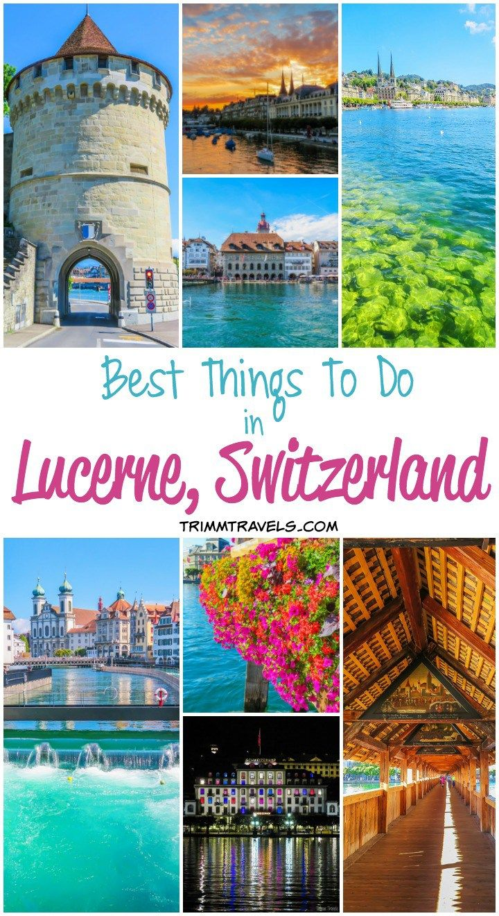 Must Do Activities Lucerne Switzerland