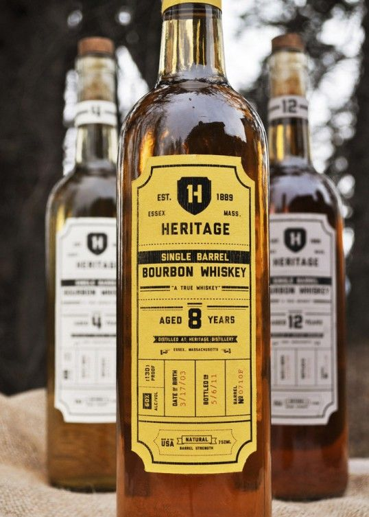Student Project | Designer: Katelyn PeissigBourbon Whiskey, Bottle Labels, Creative Handmade, Packaging Design, Barrels Bourbon, Heritage, Single Barrels, Whiskey Packaging, Katelyn Peissig