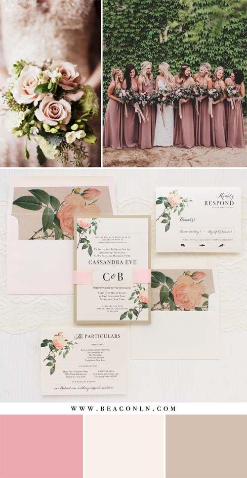 Blush Cream & Neutral Wedding Color Palette, Modern Rustic Chic Wedding Decor, Blush Tan Bridesmaid dresses