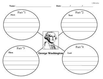 George Washington Main Idea KWL Chart Timeline Reading Comprehension Graphic Organizer And