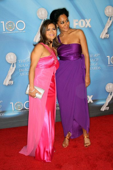 Nia Peeples and Tracee Ellis Ross at the 40th NAACP Image Awards - 2009
