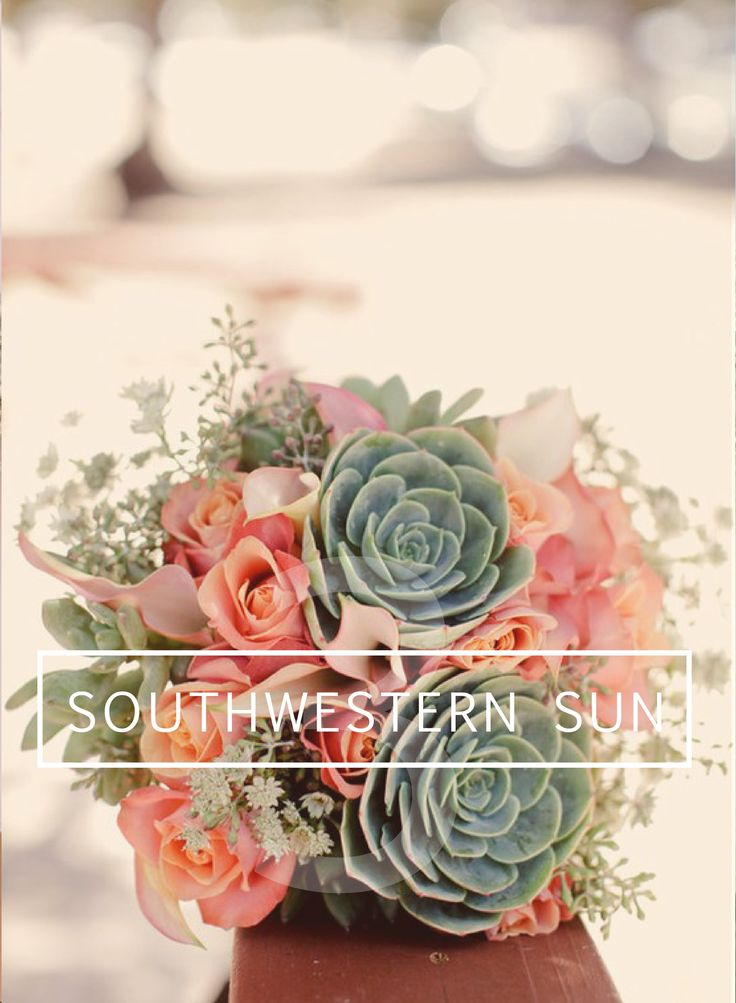 DIY Southwestern Wedding Bouquet // Succulents & Calla Lillies: I LOVE the idea of succulents in the bouquet!!!
