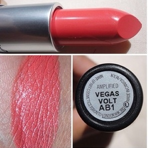 MAC Vegas Volt lipstick. Out of my comfort zone but I love it!