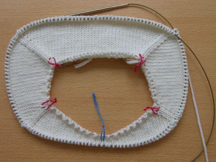 Вязание спицами - Реглан сверху ( частичное вязание) II. Практика.