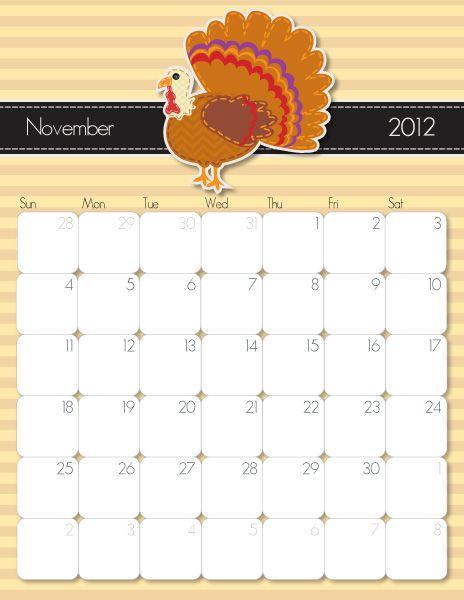 Printable November Calendar  http://imom.com/tools/get-organized/2012-printable-calendars/  #calendar