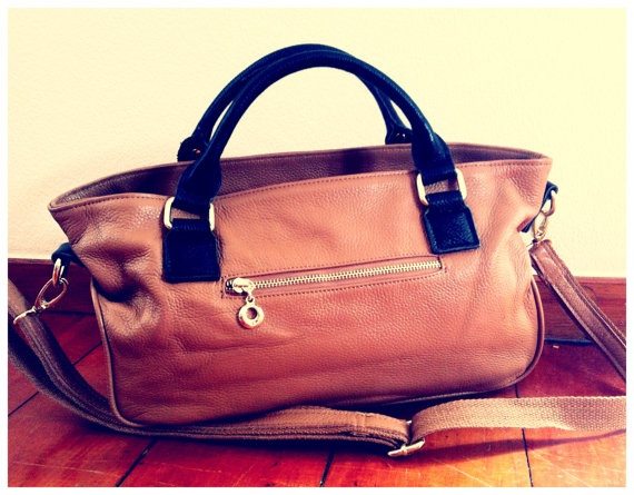 Dahlia Leather Handbag- bowler style on Etsy, $275.00