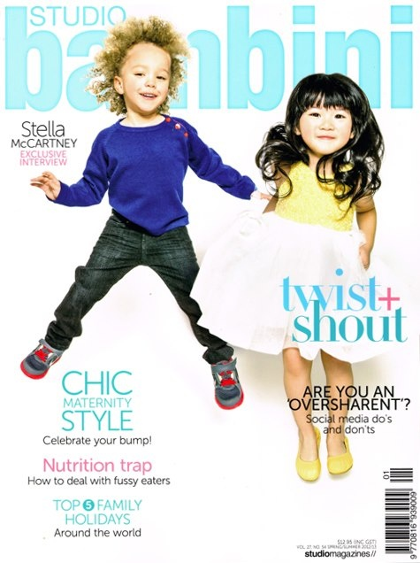 Mischka Aoki on the front cover of Studio Bambini