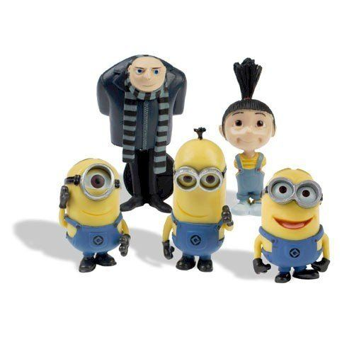 Despicable Me Figurines Set of 5 @ niftywarehouse.com #NiftyWarehouse #DespicableMe #Movie #Minions #Movies #Minion #Animated #Kids